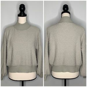 Debut popcorn turtleneck pullover sweater